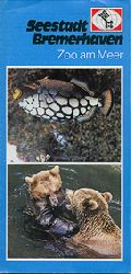 Zoo am Meer; Bremerhaven   Seestadt Bremerhaven (Grundfarbe hellblau, oben Fisch, unten Baren)