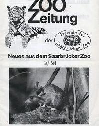 Zoo Saarbrücken  Zeitung der Freunde des Zoos, Ausg. 2  1991