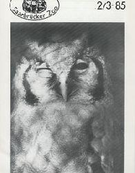 Zoo Saarbrücken  Zeitung der Freunde des Zoos, Ausg. 2-3, 1985