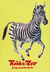 Ruhr-Zoo Gelsenkirchen  Wegweiser (Zebra)