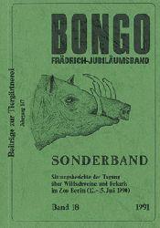 Zoo Berlin  Bongo Band 18, Frädrich-Jubiläumsband, SItzungsberichte der Tagung über Wildschweine und Pekaris im Zoo Berlin