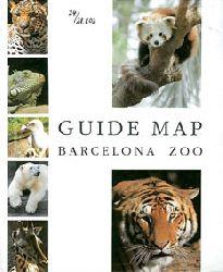 Zoo de Barcelona  Guide Map Barcelona Zoo (Panda, Tiger u. 5 kleine Fotos)