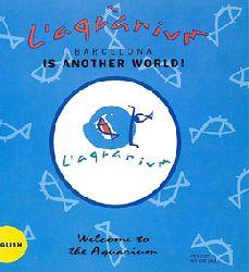 Aquarium Barcelona  Poster (Hai) mit Plan und Informationen auf der Rückseite