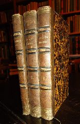 Geibel, Emanuel  Dekorativer Halblederbände - Gedichte. Erste bis Dritte Periode. 3 Bände. 1. Gedichte (52. Aufl.) - 2. Juniuslieder (13. Aufl.) -  3. Neue Gedichte (6. Aufl.)