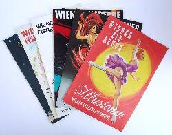 EISKUNSTLAUF -  Wiener Eisrevue. 6 Orig.-Programmhefte der Wiener Eisrevue in der Wiener Stadthalle der Jahre 1960 bis 1967.