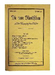 Döblin / Ehrenstein / Mehring -  Die neue Rundschau, XXXI. Jahrgang der freien Bühne, Erstes Heft, Januar 1920.