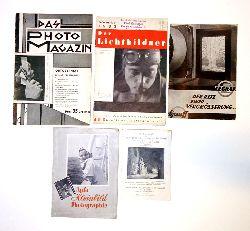 5 Bände Photographie-Konvolut aus den 1930er Jahren.