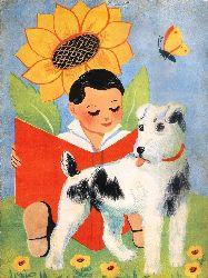 Kinderbuch-Konvolut -  2 alte Ausmalbücher + 1 Bilderbuch ca. 1945.