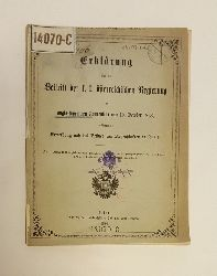 Erklärung über den Beitritt der k. k. österreichischen Regierung zur anglo-tunesischen Convention vom 10. October 1863, in Betreff der Erwerbung und des Besitzes von Liegenschaften in Tunis.