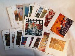 21 Einladungskarten -  Konvolut mit 21 Einladungskarten österreichischer Künstler.