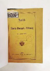 Zoll- und Staats-Monopols-Ordnung vom Jahre 1835.