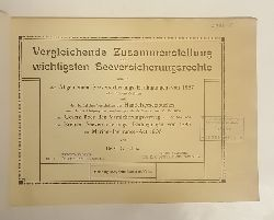 Gütschow, C.  Vergleichende Zusammenstellung der wichtigsten Seeversicherungsrechte...