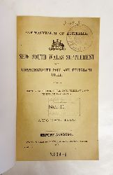 Australia -  New South Wales Supplement to the Commonwealth Post and Telegraph Guide. Containing postal, money order, postal note, telegraph, and telephone information. No. 11 (August 1913). + Additions and Alterations, No. 1 and 2.