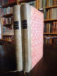 La Bruyère, Jean de / Flake, Otto (Übersetzung)  Bibliophile Halbpergamentausgabe - Charaktere. Neue deutsche Ausgabe in zwei Bänden von Otto Flake.