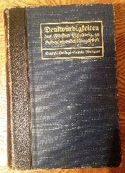 Hohenlohe-Schillingsfürst  Denkwürdigkeiten des Fürsten Chlodwig zu Hohenlohe-Schillingsfürst. 2. Band (von 2). Im Auftrage des Prinzen Alexander zu Hohenlohe-Schillingsfürst herausgegeben von Friedrich Curtius. 4. Auflage.