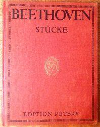 Beethoven, Ludwig van  Klavierstücke. Herausgegeben und mit Fingersatz versehen von Louis Köhler und Adolf Ruthardt. Neu revidierte Ausgabe. Nr. 9682.