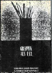 Deckeltitel: Graphik aus USA. Ausstellung in der Amerika Haus Galerie, 25. Mai - 25. Juni 1971.