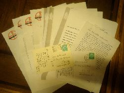 Roessler, Arthur  Konvolut aus 9 Briefen und 2 Postkarten.