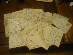 Kralik, Richard  Konvolut bestehend aus 9 Manuskripten, 7 Briefen und 8 Postkarten.