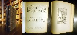De Sade, Marquis  Privatdruck - Justine und Juliette. Komplett in 10 Teilen. Gebunden in 4 Bänden.