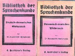 Mandrovic, Konstantin  Deutsch-slowenisches Wörterbuch / Slowenisch-deutsches Wörterbuch. 2 Bände.