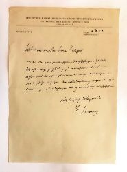Freiberg, Siegfried  Eigenh. Brief mit U. von Siegfried Freiberg an einen Herrn Professor vom 5. IV. 1952.