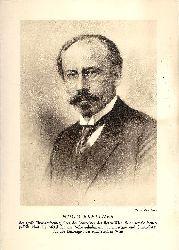 Breitner, Hugo / Bauer, Theo [Fotograf]  Gedruckte Portrait-Fotografie von Hugo Breitner.