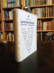 Surrealisme - Lautreamont, Isidore Ducasse Comte de  Oeuvres completes contenant Les Chants de Maldoror, les Poesies, les Lettres, une intruduction par Andre Breton.