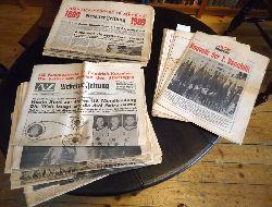 AZ -  Arbeiter-Zeitung. Zentralorgan der Sozialistischen Partei Österreichs. Konvolut aus 16 Ausgaben aus den Jahren 1959, 1966, 1968, 1969, 1971, 1973, 1974.