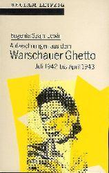 Warschauer Ghetto - Szajn Lewin, Eugenia  Aufzeichnungen aus dem Warschauer Ghetto. Juli 1942 bis April 1943.