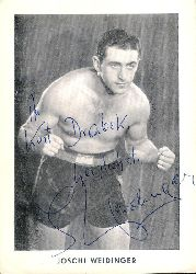 Boxen - Weidinger, Joschi (d.i. Josef Weidinger)  Eigenhändig signierte Fotokarte des Europameisters im Schwergewicht.