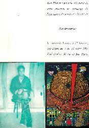 Hundertwasser -  Ausstellungsfolder 1967 Paris.