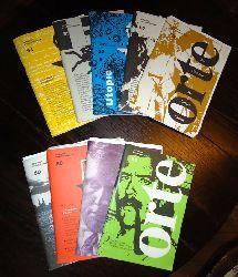 Bucher, Werner  orte. Schweizer Literaturzeitschrift. 9 Hefte der Jahrgänge 1986 (54, 55, 56, 57) und 1987 (58, 59, 60, 61, 62,) + Korrespondenzen des Verlages.
