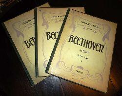 Beethoven-Album.  Sammlung beliebter Sätze aus Symphinien. Nach den Original Partituren für Piano Solo übertragen von J.P. Gotthard. 3 Bände.