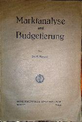 Henzel, F.  Marktanalyse und Budgetierung.