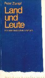 Zumpf, Peter  Signiertes Exemplar - Land und Leute. Ein österreichisches Lesebuch.