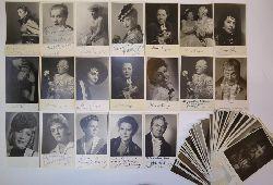 Atelier Dietrich Wien  Sammlung von 68 Photographien / Porträtspostkarten, davon 25 eigenhändig signiert bzw. gewidmet.