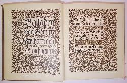 Börries, Freiherr von / Engels, Robert (Illustr.)  Balladen von Börries Freiherrn von Münchhausen. Zweite veränderte und vermehrte Auflage.
