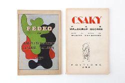 "EDITIONS ""ARS"" - 2 Volumes  1. Salmon, Andre: Clément Redko. - 2. George, Waldemar: [Joseph] Csaky. Avec in poème de Blaise Cendrars."