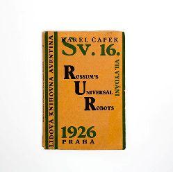 Capek, Josef (Cover designs)  Sammlung in 9 Bänden mit Einbänden gestaltet von Josef Capek. Collection of 9 covers designed by Josef Capek.