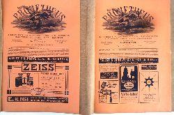 Berliner U-Bahn 1908 - Witt, Otto N.  Prometheus. Illustrierte Wochenschrift über die Fortschritte in Gewerbe, Industrie und Wissenschaft. No. 950 + 951, Jg. XIX, 1. und 8. Jänner 1908.