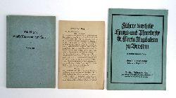 Breslau -  2 Bände: 1. Führer durch die Haupt- und Pfarrkirche St. Maria Magdalena zu Breslau. - 2. Die Kirche Sankt Maria auf dem Sande zu Breslau.