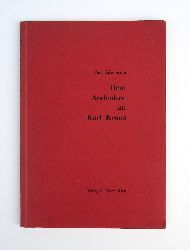 Kraus, Karl - Engelmann, Paul  Dem Andenken an Karl Kraus.