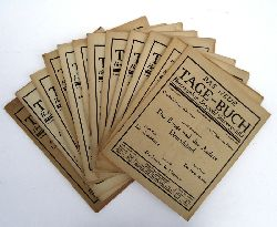 Exilzeitschrift Paris-Amsterdam - Schwarzschild, Leopold (Hg.)  Das Neue Tage-Buch. 14 Hefte des 6. Jahrganges 1938 (Heft 1, 15, 16, 17, 18, 19, 20, 21, 47, 48, 49, 50, 51, 52).