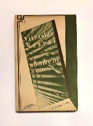 Teige, Karel (design) / Nezval, Vítezslav  sbohem a sátecek. Básne z cesty. 4. vydaní.
