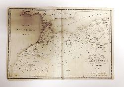 Marokko Landkarte 1844 -  Das Kaiserreich Fez und Marokko nebst einem Theile der franz. Provinz Algier 1844. Gez. U. gest. v. C. F. Wenng. Maßstab 30000000.