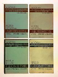 Prowaznik, Franz (Bearb.)  Mocniks Lehr- und Übungsbücher der Mathematik für Mittelschulen. Unterstufe. 4 Bände.