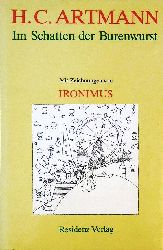 Artmann, H. C.  Im Schatten der Burenwurst. Skizzen aus Wien. Mit Zeichnungen von Ironimus (d.i. Gustav Peichl).