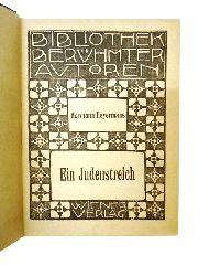 """2 Bände der """"Bibliothek berühmter Autoren"""" (in 1 Band): 1. Hermann HEYERMANS - 2. Rudyard KIPLING  Ein Judenstreich. / Der schwarze Jack und andere Geschichten."""