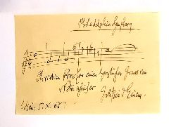 AUTOGRAPH - Einem, Gottfried von  Signierter Brief mit Notenzeile.